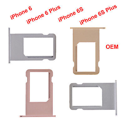 OEM Sim Card Holder Tray Metal Slot For iPhone 6G 6 Plus - iPhone 6S 6S Plus