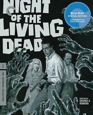 Night of the Living Dead Criterion Collection New Blu-ray 4K Mastering Sp