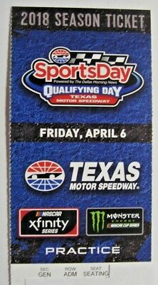 1 TEXAS MOTOR SPEEDWAY SPORTSDAY QUALIFYING APRIL 62018 NASCAR MONSTER XFINITY