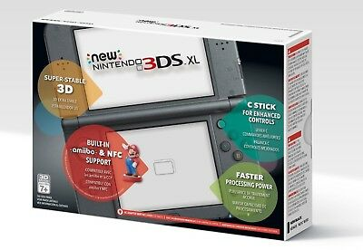 New Nintendo 3DS XL Handheld Console System Black Brand New