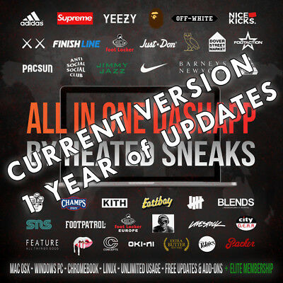 Heated Sneaks All in One DashApp Bot v1-6-6Current Version1 Year Updates