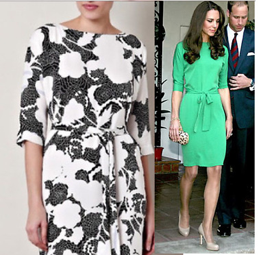 NWT 499 DVF Diane von Furstenberg Maja Dress Kate Middleton Kelly Ripa size 4