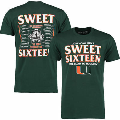 The Victory Miami Hurricanes Green 2016 NCAA Mens Sweet 16 T-Shirt