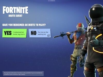 Fortnite Mobile IOS invite Sent Via E-Mail