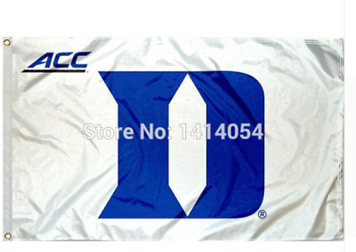 Duke Blue devils 3x5 logo white flag with grommets March Madness