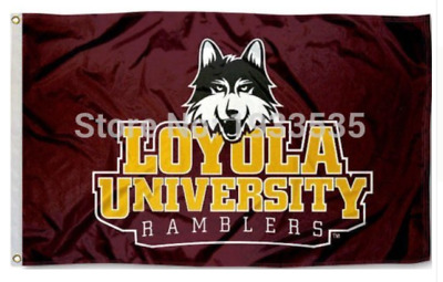 Loyola Chicago 3x5 foot logo flag March Madness Mens Basketball NCAA