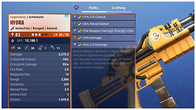 PS4PC Fortnite PVE Save the World - Power Level 82 Hydra LV 3030