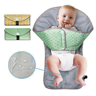 Portable Baby Diaper Changing Pad 3in1 Cover Mat Waterproof Folding Travel Bag