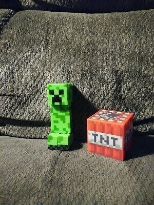 Minecraft - Toys - Creeper And TNT Box - Large Figures - Mattel - Animated