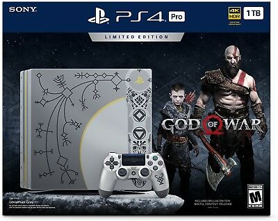 PlayStation 4 Pro 1TB Limited Edition Console God of War Bundle NEW