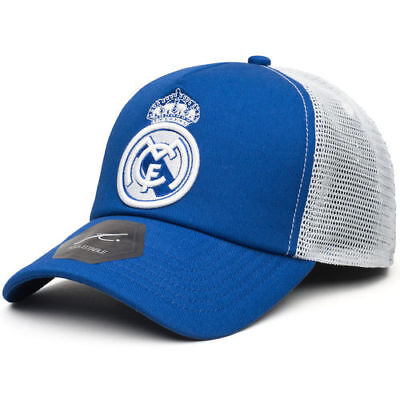 Real Madrid Blue Fog Trucker Snapback Adjustable Hat
