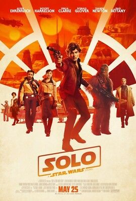 Solo A Star Wars Story Theatrical DS Movie Poster 27x40 DS FINAL Authentic
