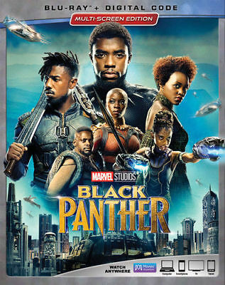 ✔SEALED Marvel Black Panther 2018 Blu-ray - Digital Copy  w slipcover NO TAX