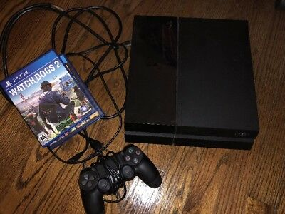 Sony PlayStation 4 PS4 CUH-1115A 500GB - Black- ALL CABLES GTA WATCH DOGS