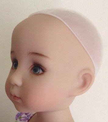 New Secure Soft SILICONE Doll Wig Cap 7-8 Fits BJD Effner Little Darling Etc