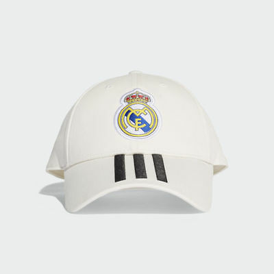 Adidas Real Madrid 3-Stripes Soccer Hat White CY5600