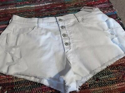 Hollister Co Womens White Distrsssed Shorts 15 Abercrombie