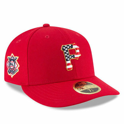 New Era Pittsburgh Pirates Red 2018 Stars - Stripes 4th of July On-Field Low