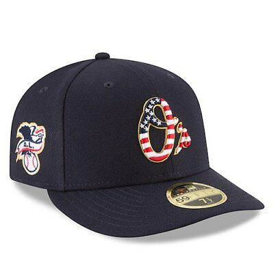 New Era Baltimore Orioles Navy 2018 Stars - Stripes 4th of July On-Field Low