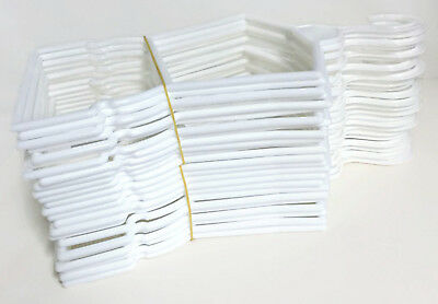 24 White Plastic Outfit Hangers2 Dozen made for 18 American Girl Doll Clothes