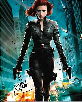 SCARLETT JOHANSSON Black Widow Autographed 8 x 10 Signed Photo COA