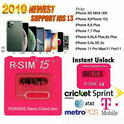 R-SIM15 Sim14- Nano Unlock RSIM Card for iPhone 11 Pro XS MAX XR X 8 7 iOS13 Lot