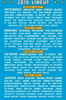 Lollapalooza 2018 4 Day Pass  Grant Park Chicago 8218 - 8518