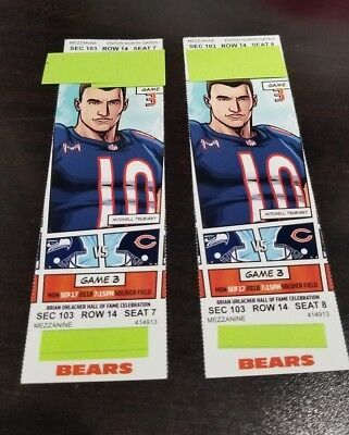 2 Chicago Bears vs Seattle Seahawks Section 103 row 14 Seat 7 - 8 HOME OPENER