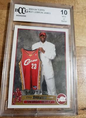 2003-04 Topps 221 Lebron James BCCG 10 MINT Cleveland  RC Rookie