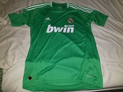 Pre Owned Real Madrid Away Green Jersey Sz L