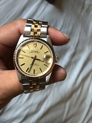 TUDOR Prince Oyster Date 18K and Stainless Steel Automatic Watch by Rolex