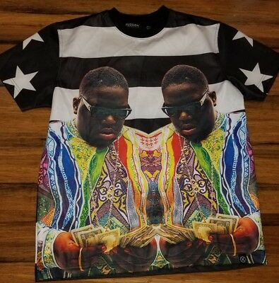 NOTORIOUS BIG BIGGIE SMALLS Hudson Outerwear Short Sleeve Crewneck T-Shirt Large