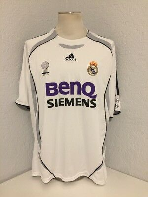 Vintage Men's Adidas Authentic Real Madrid David Beckham Football Jersey SZ XL