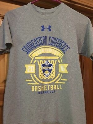 Boys Under Armour SEC Tournament 2016 Tshirt Gray Medium Basketball Nashville
