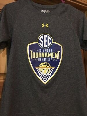 Boys Under Armour SEC Tournament 2015 Tshirt Gray Medium Basketball Nashville