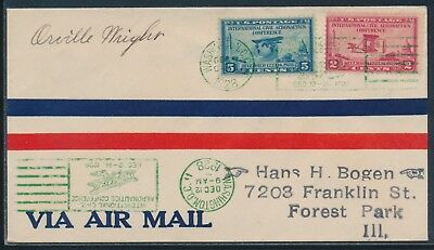 649-659 ON FDC CACHET AMELIA EARHART SIGNED COVER DEC 121928 HW4285