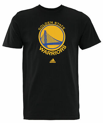 Adidas NBA Mens Golden State Warriors Primary Logo T-shirt Black
