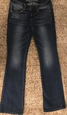 American Eagle Outfitters AE Womens Kick Boot Stretch Size 4 Slight Distress