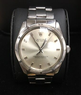 ROLEX Oyster Perpetual 1007 34 mm 1570 Movement and Original Silver Dial