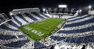 Penn State Nittany Lions vs Michigan State spartans 50 YARD LINE UPPER FRONT ROW