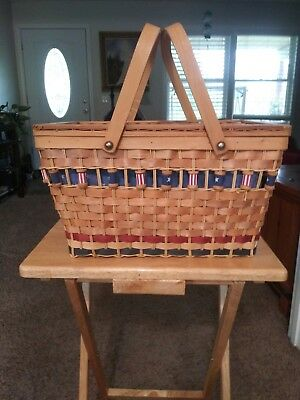 Fourth Of July Picnic Basket With Spools