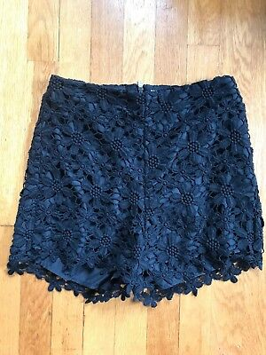Womens Hollister Co- High waisted black flower lace shorts size 1