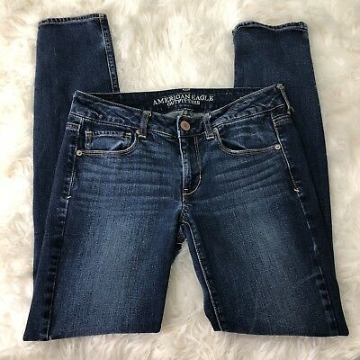American Eagle Outfitters Womens Size 6 Regular Skinny Stretchy Jeans Mid Rise
