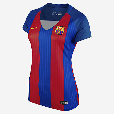 Nike Womens FC Barcelona 2016 Home Soccer Jersey 777109 481 Size S NWT