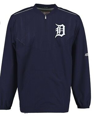 Mens Detroit Tigers Authentic Majestic Navy Cool Base Pullover