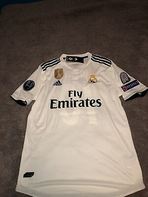 Adidas Luka Modric Real Madrid 1819 UCL Player Version Slim Jersey Large NWT