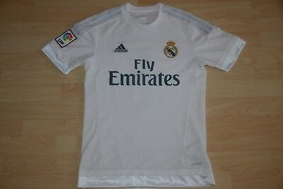 AUTHENTIC ADIDAS Ronaldo 7 Real Madrid White Home Soccer Jersey La Liga CR7 S