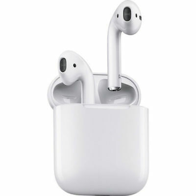 Apple AirPods White  MMEF2AMA In Ear Bluetooth Headset W Charging Case-New