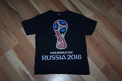 New FIFA World Cup Russia 2018 T-Shirt Youth XS 6 8 year old 100 Cotton NWOT
