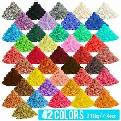 42-Color 210g Metallic Effect Natural Mica Pigment Powder Value Pack 5gpacket
